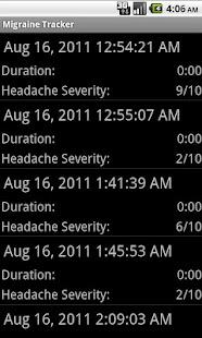 Migraine Tracker- screenshot thumbnail