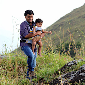 The steps of a father by Arjun Madhav - People Family ( love, dad, fatherhood, family, care, daughter, landscape,  )