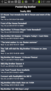 Pocket Big Brother Pro - screenshot thumbnail