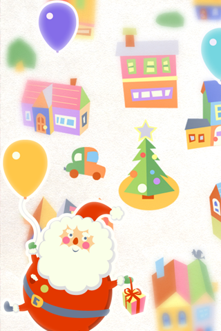 Balloon Santa ライブ壁紙