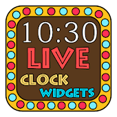 Neon Light Clock Widget