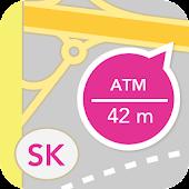 Bankomaty, pobočky a pošty SK