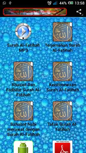 Surah Al-Fatihah Fadhilatnya