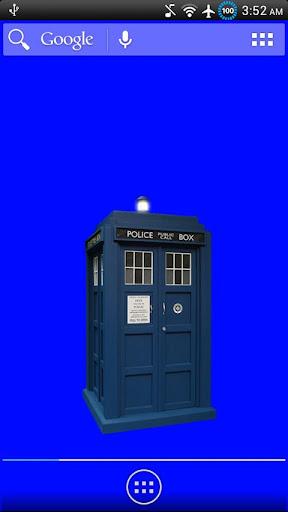 Animated TARDIS Widget