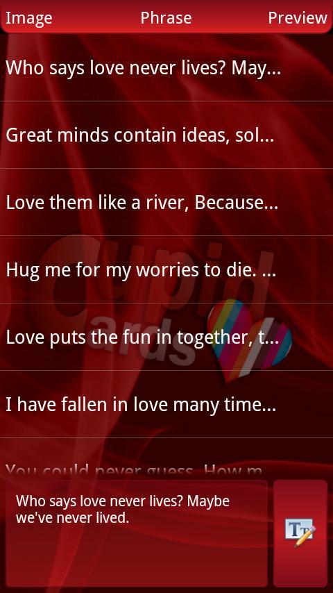 CupidCards Free - screenshot