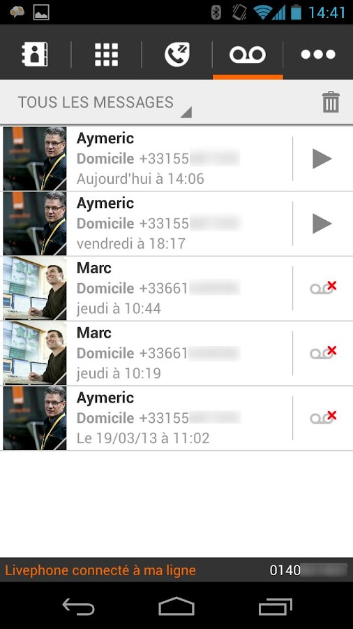 Livephone - screenshot