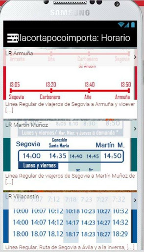 Horario Autobuses Segovia