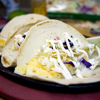 Fish Tacos with Spicy Sour Cream Recipe