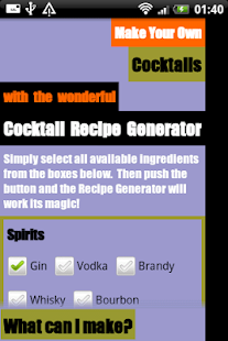 Cocktail Recipe Generator- screenshot thumbnail