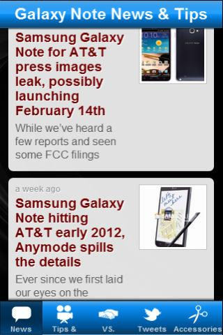 Galaxy Note News & Tips - screenshot