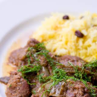 Lamb with Green Chili Masala.