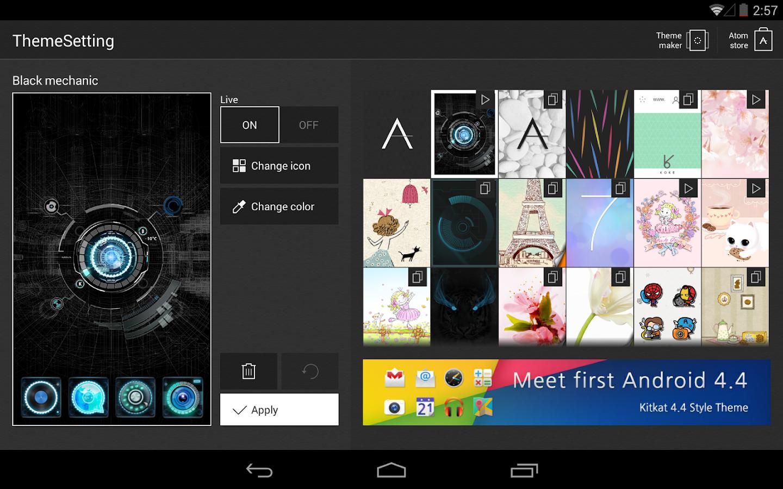 Google themes pink and black - Black Mechanic Atom Theme Screenshot