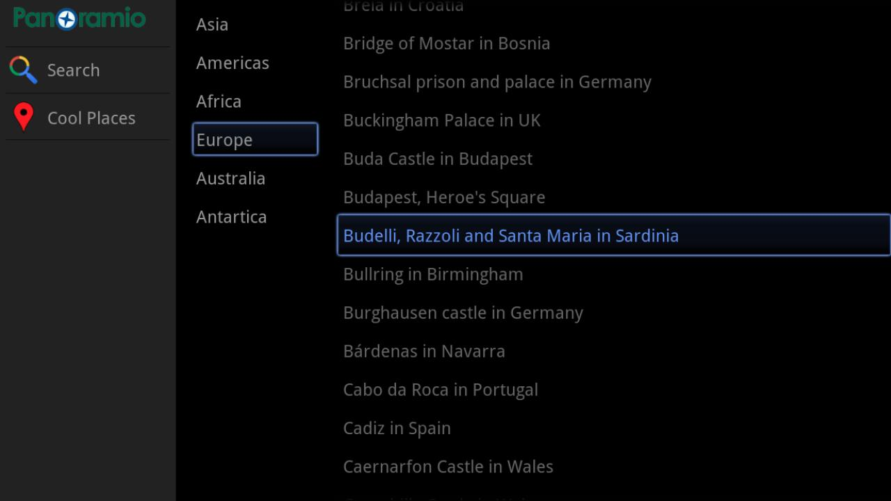 Panoramio for Google TV - screenshot