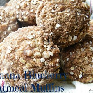 Banana Blueberry Oatmeal Muffins