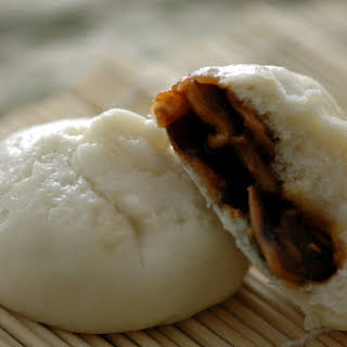 Vegetarian Steamed Pork Buns (Bao).