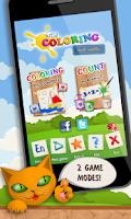 Screenshot of Kids Coloring and Math Free