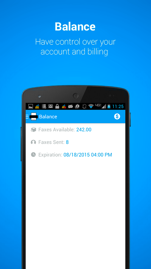 MobileFax- screenshot