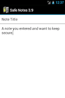 Screenshot of Safe Notes is a secure notepad