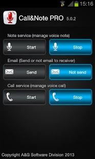 Call&Note Recorder Mailer PRO- screenshot thumbnail