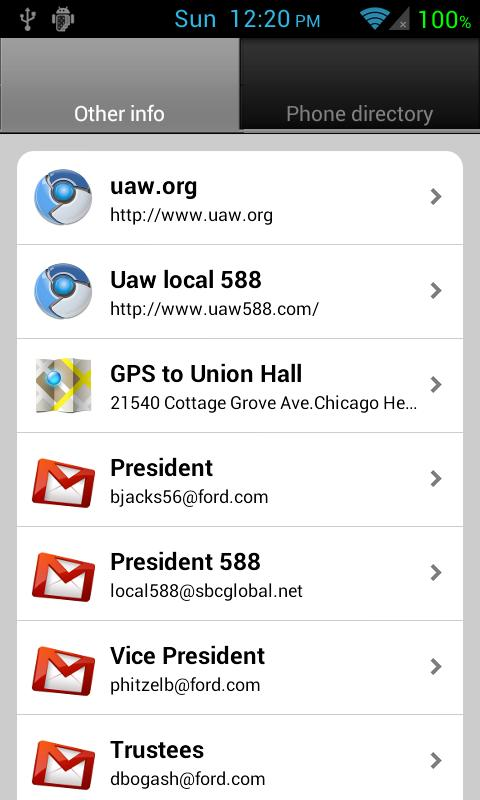 UAW Local 588 - screenshot