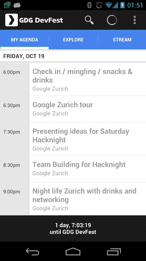 GDG DevFest 2012 Zurich- screenshot