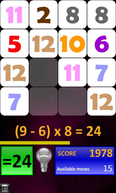 Arithmetics Puzzle - screenshot