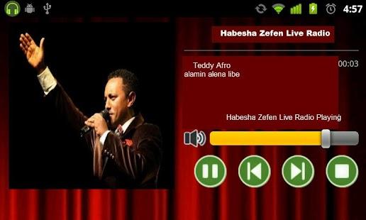 Habesha Zefen Live Radio- screenshot thumbnail
