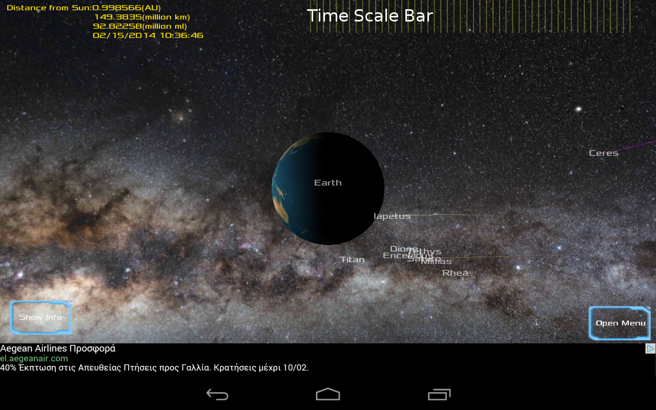 Solar System 3D Viewer- screenshot