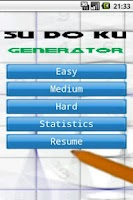 Screenshot of Sudoku Generator