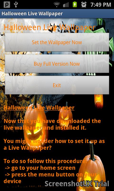 Halloween Free Live Wallpaper - screenshot