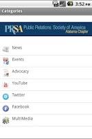 Screenshot of PRSA AL