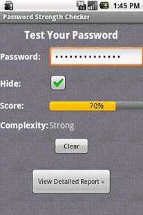 Password Strength Checker - screenshot thumbnail