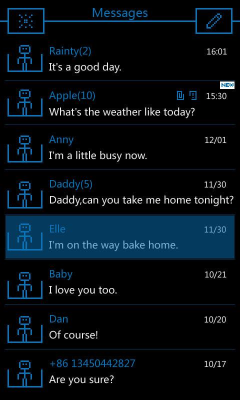 GO SMS Pro GO'S Theme - screenshot