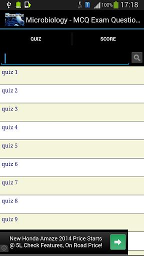 Microbiology Exam MCQ