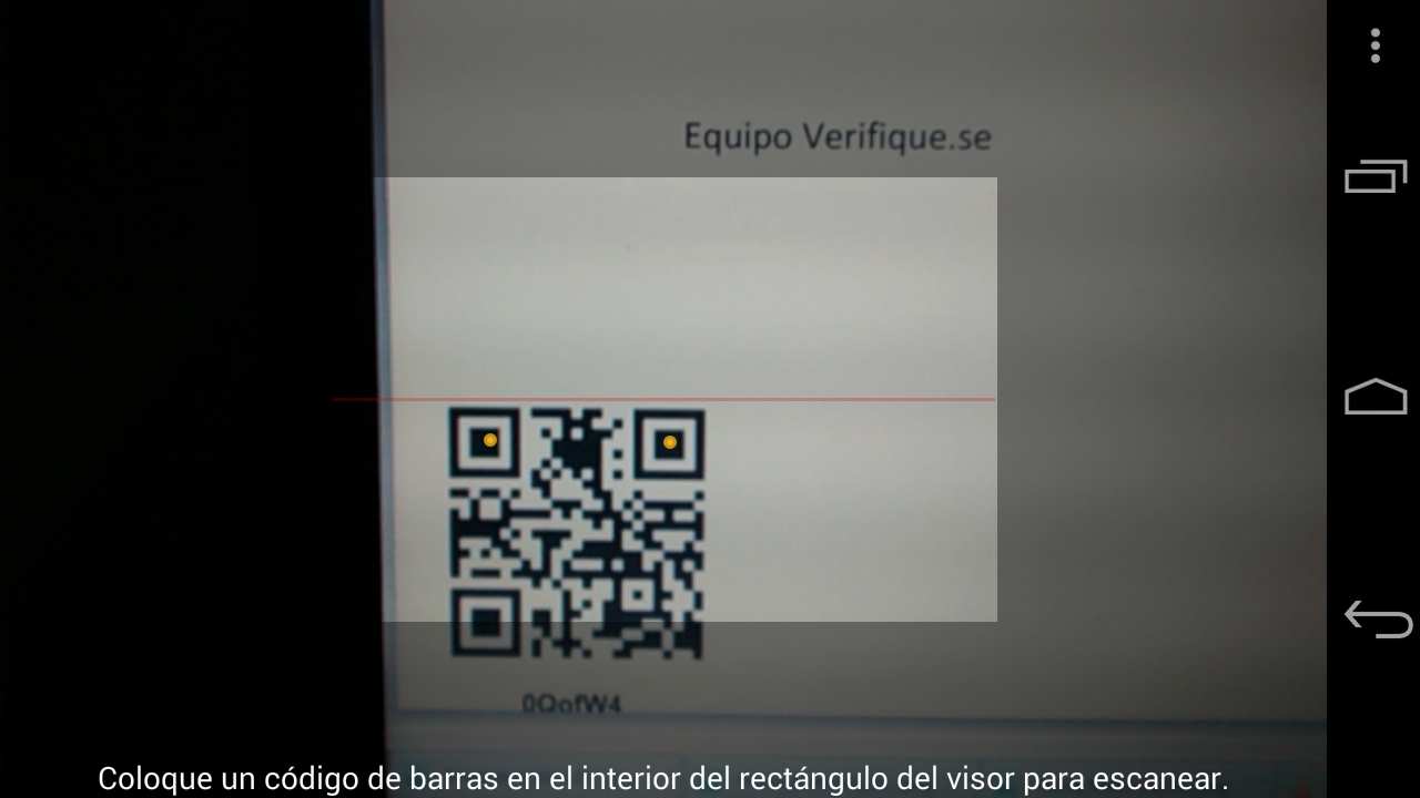 Verifiquese- screenshot