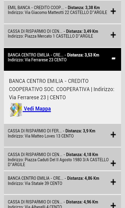 Cerca Bancomat - screenshot