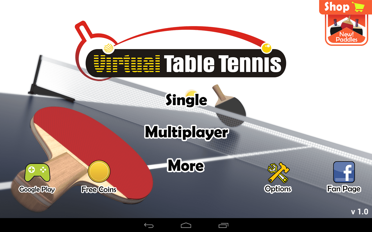 Virtual Table Tennis- screenshot