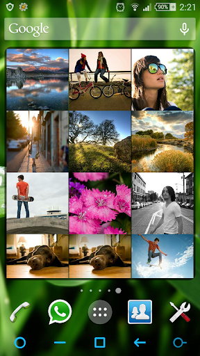 Photo Frame Grid Widget
