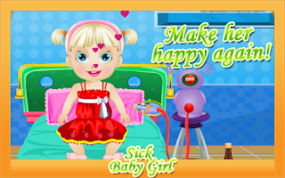 Screenshot of Baby Games - Sick Girl