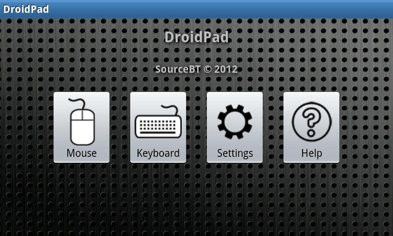 DroidPad- screenshot