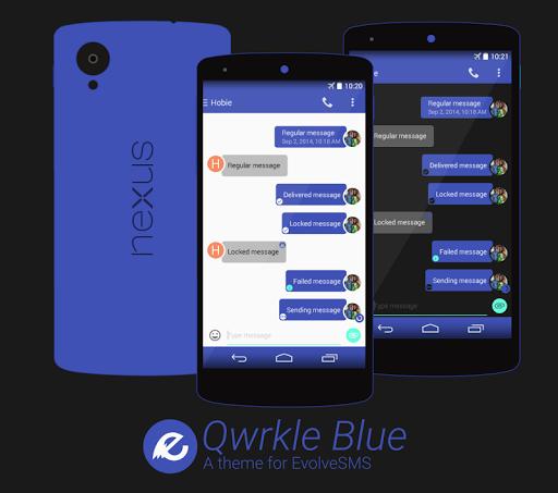 EvolveSMSTheme- QwrkleBlue