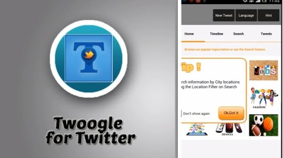 Twoogle for Twitter - screenshot thumbnail