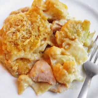 Sloppy Cheesy Chicken Pasta Bake.
