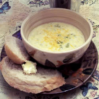 Luscious Broccoli and Cheese Soup.
