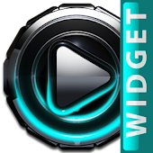 Poweramp widget Turquoise Glow
