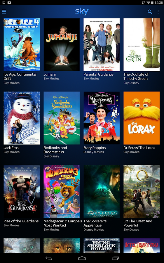 Sky Go Tablet - screenshot