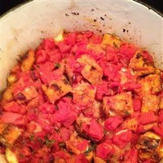 Savory Tomato Bread Pudding