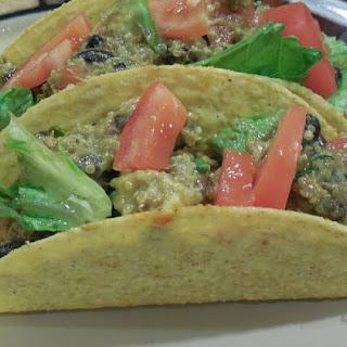 Spicy BLAQ (Bean, Leek, Avocado and Quinoa) Salad Tacos
