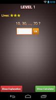 Screenshot of Number Series