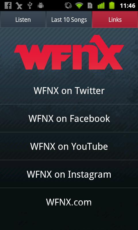 WFNX Radio - screenshot